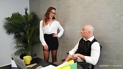 Quickie fucking in the office with stunning boss Cherie DeVille