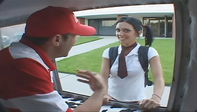 Picking big ass teen from school to punish her hardcore