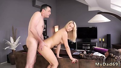 Daddy and associate's daughter in car old man big dick