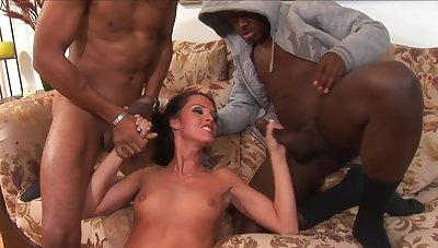 Jennifer Dark Takes Mainly Two Black Sausages