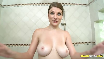Dillion Carter plays sex toys tick alluring shower