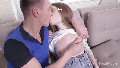 Russian virgin Adel is fucked in anus and mouth by hoggish boyfriend