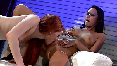 Lesbian sluts lick in seductive scenes for a complete oral tryout
