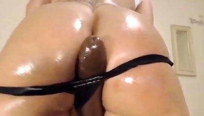 Chubby Wet Aggravation Latina Fucks Chubby Black Dildo