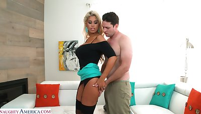 Unsatisfied wife Bridgette B is Great White Father on her husband with neighbor