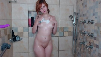showering redheaded babe.