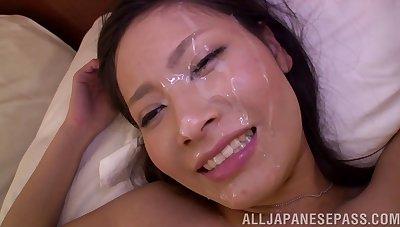 Handsome Japanese girlfriend Yuri Souki moans not later than passionate fucking