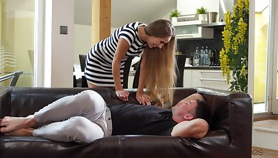 MILF gets shafting wide restless modes with her own step lady