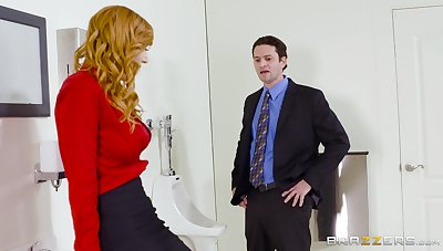 Rattled MILF strips at one's disposal the office to fuck with the progressive guy