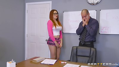Establishing babe with big tits, seem like sex with one of her teachers