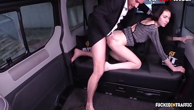Uber Guy Fucks On His Car With Liz Heaven