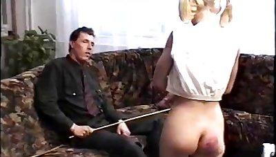 Vintage spanking punishment video