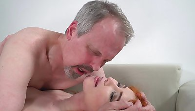 Horny old guy has unforgettable sex with wife's cute stepdaughter