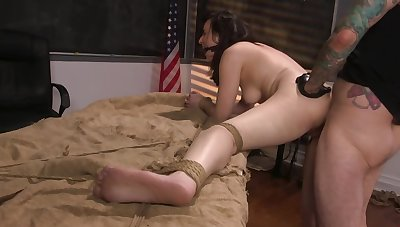 Master wants forth burgeon both her moist pussy and tight butt