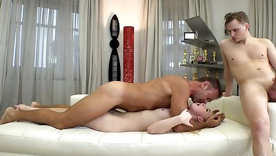 Girl is geared up for two cocks scoring her from both sides