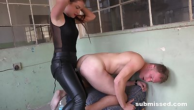 Aroused femdom XXX anal for a man